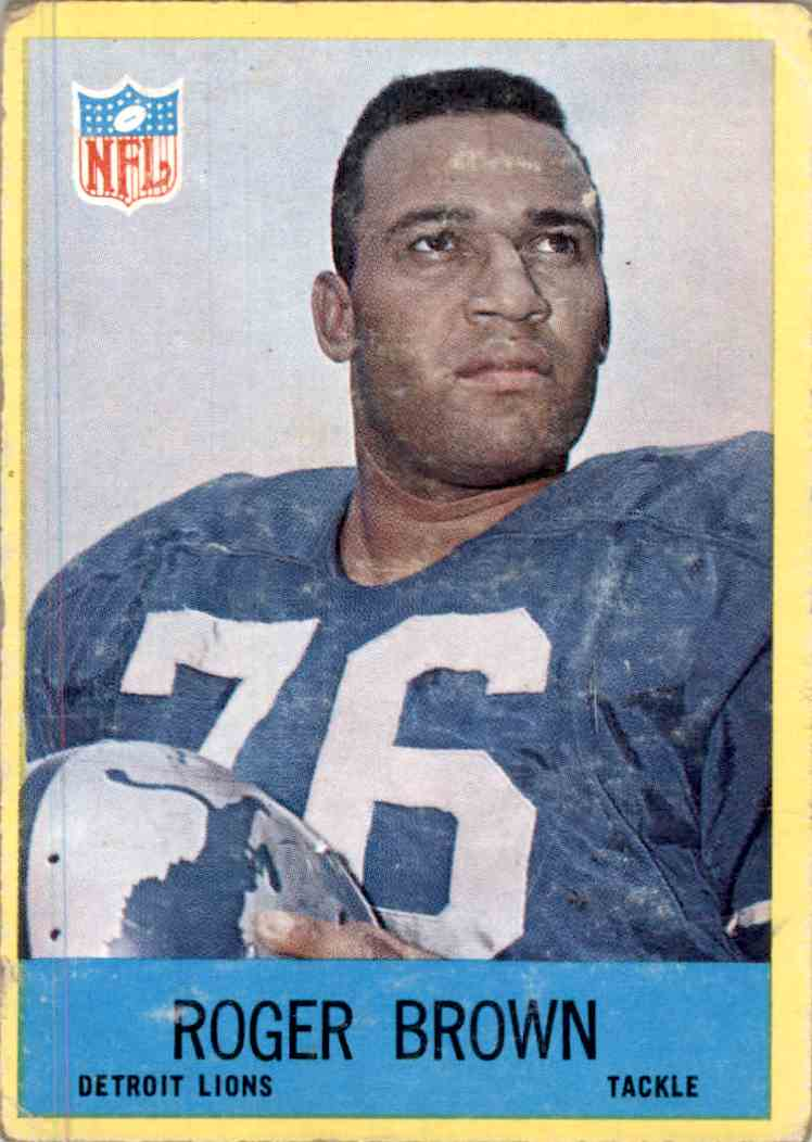 1967 Philadelphia Roger Brown #62 card front image