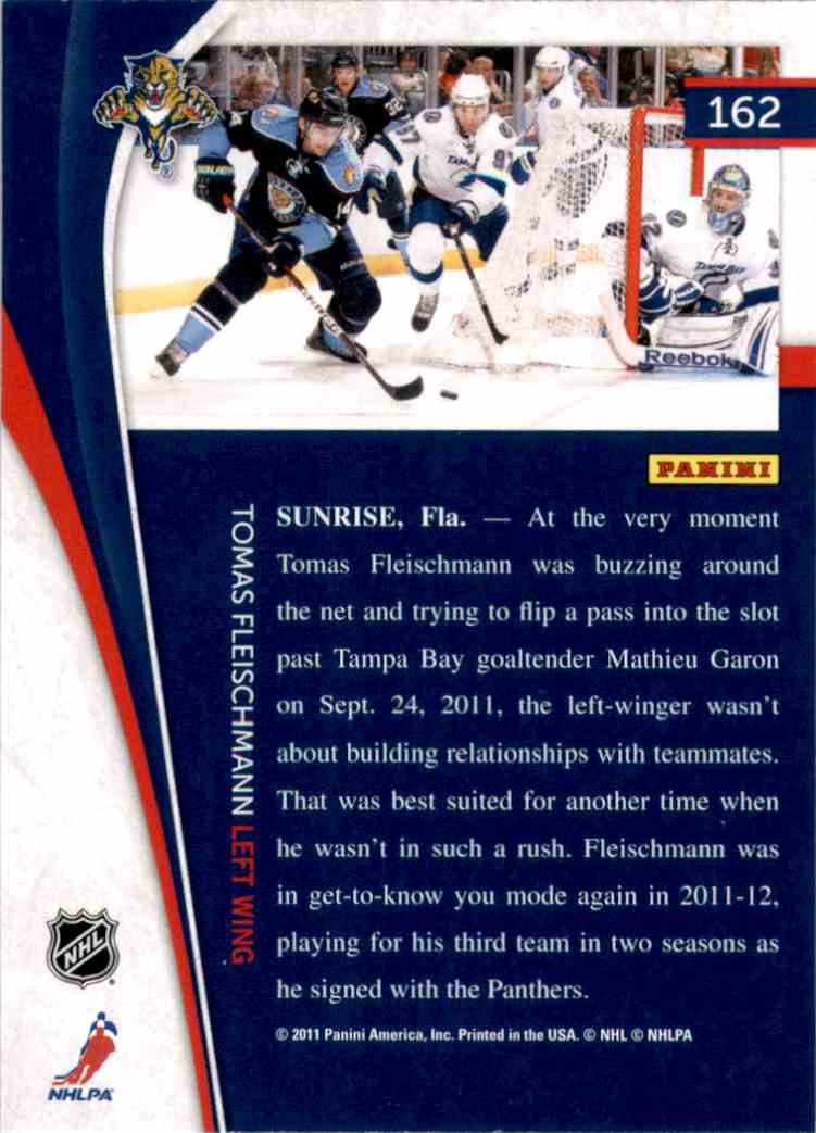 2011-12 Pinnacle Tomas Fleischmann #162 card back image