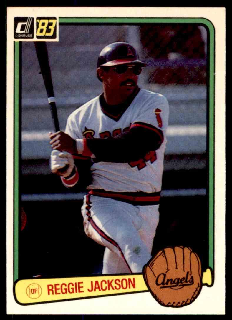 1983 Donruss Reggie Jackson #115 card front image