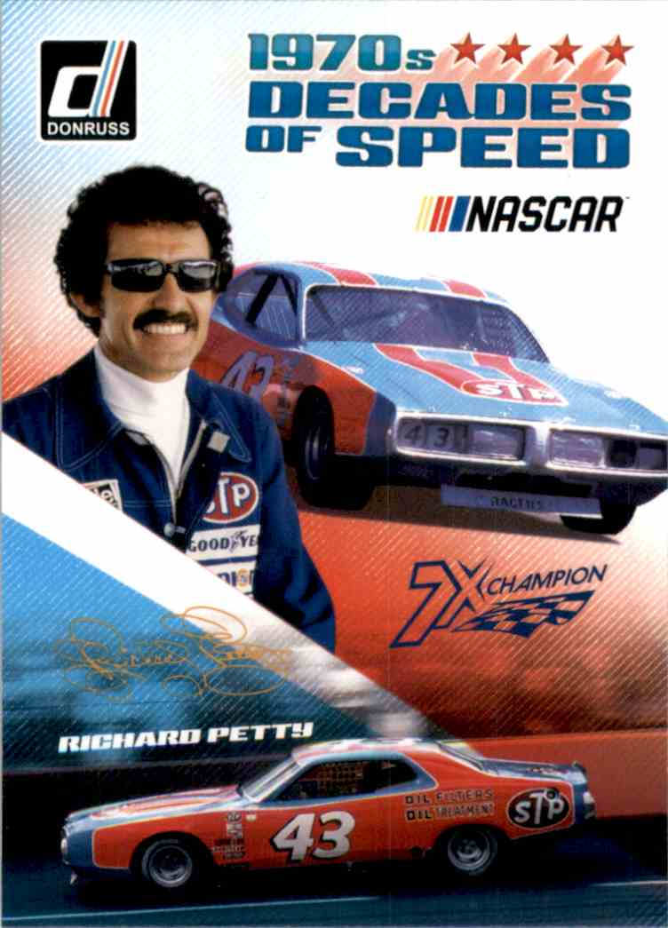 2019 Donruss Decades Of Speed Richard Petty #DS5 card front image