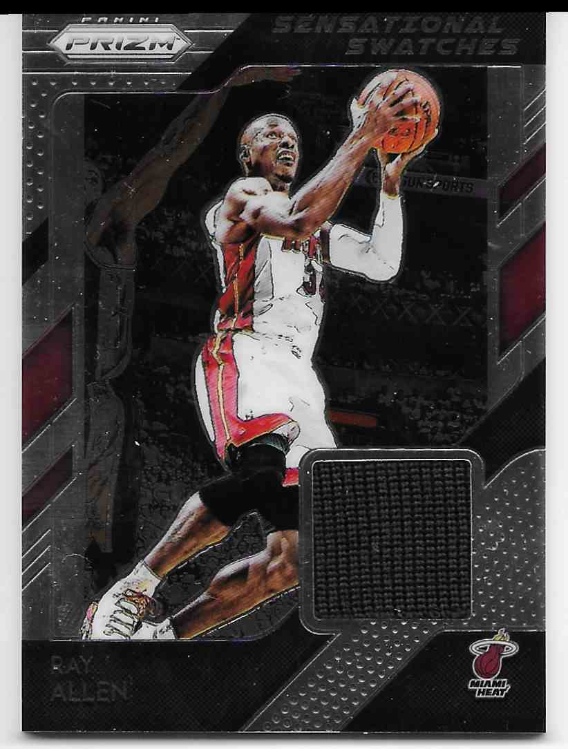 2018-19 Panini Prizm Sensational Swatches Ray Allen #10 card front image