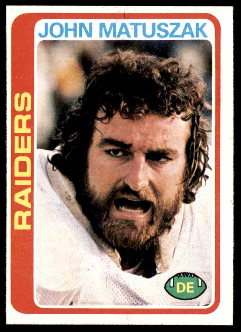 1978 Topps Football John Matuszak #439 card front image