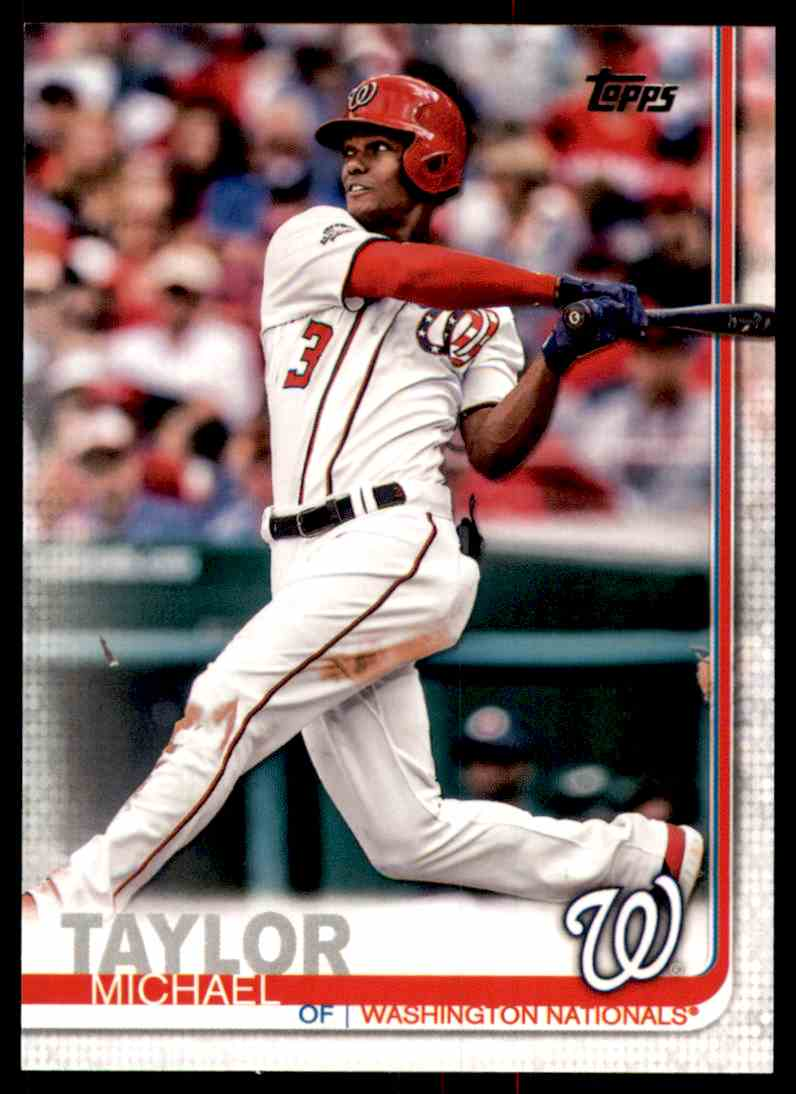 2019 Topps Michael Taylor #101 card front image