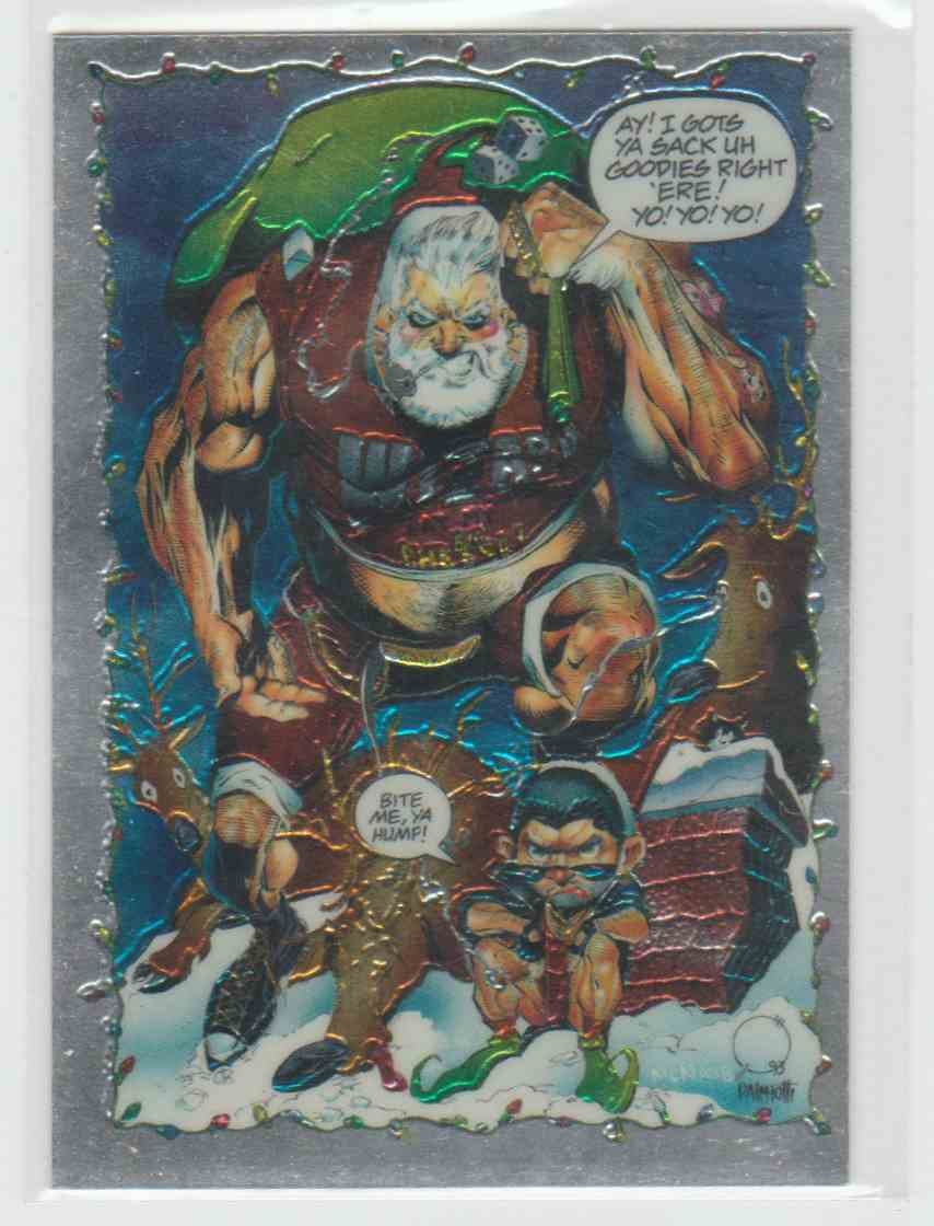 1995 Wizard Christmas Eve In Brooklyn Promo Card #NNO card front image