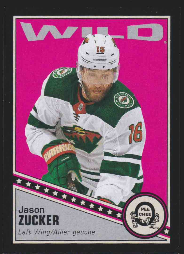 2019-20 Upper Deck Hockey O-Pee-Chee Jason Zucker - Black Retro #227 card front image