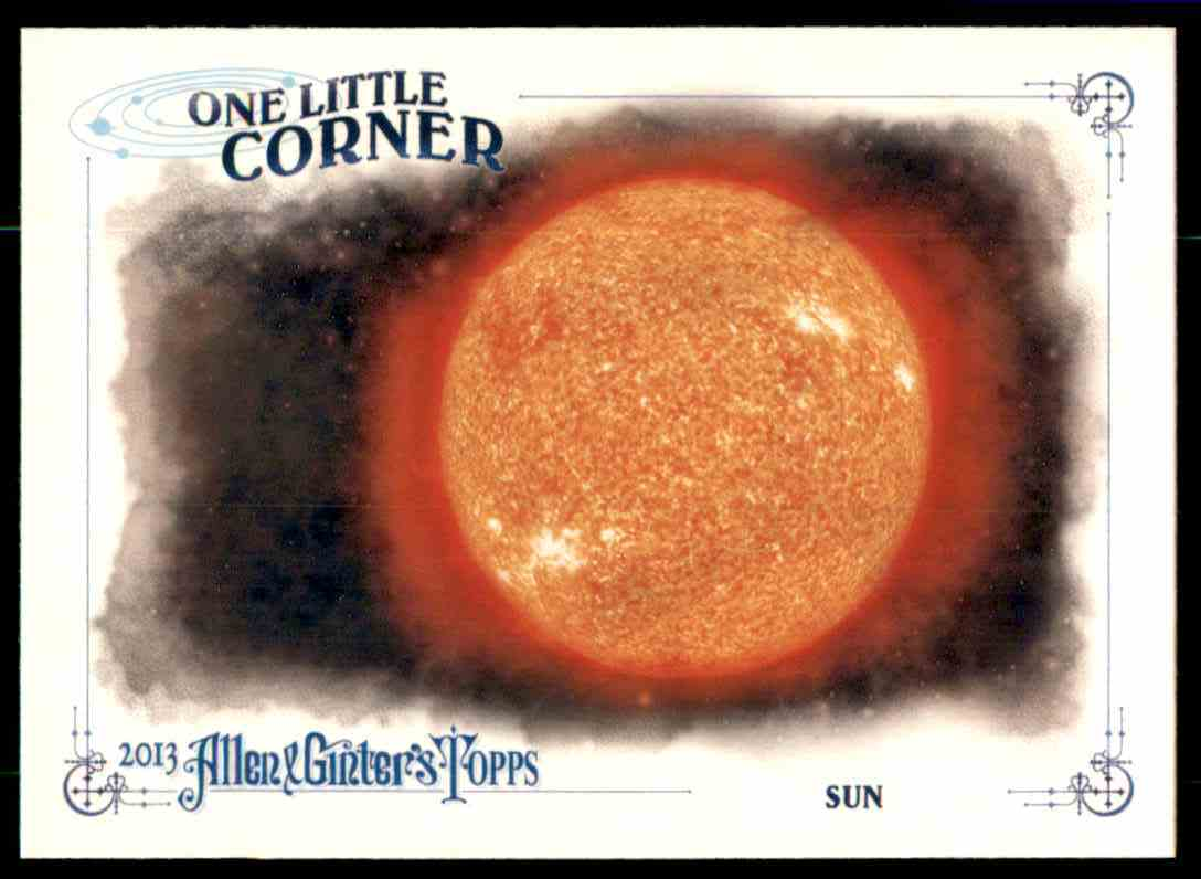 2013 Topps Allen And Ginter One Little Corner Sun #SUN card front image