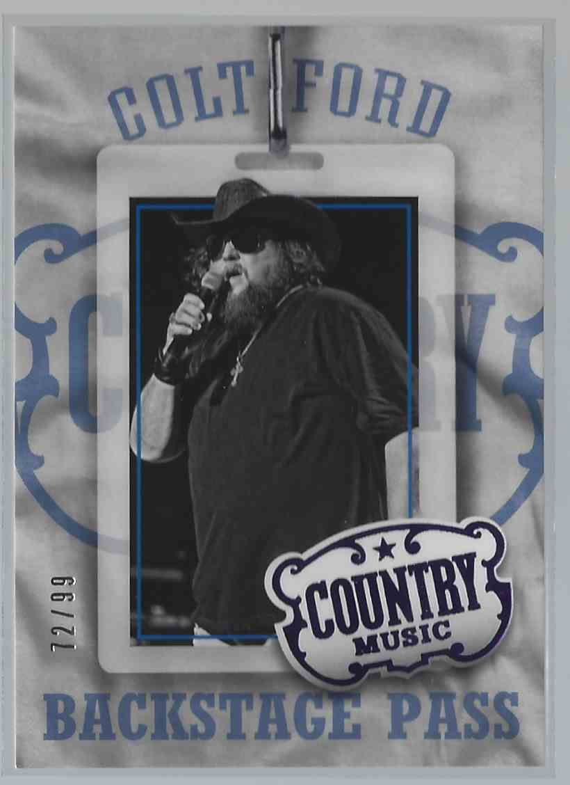 2015 Country Music Backstage Pass Purple Colt Ford #2 card front image