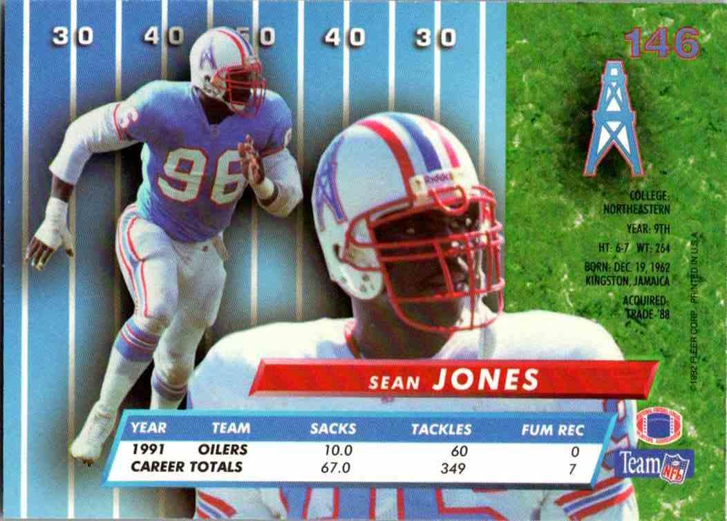1992 Fleer Ultra Sean Jones #146 card back image