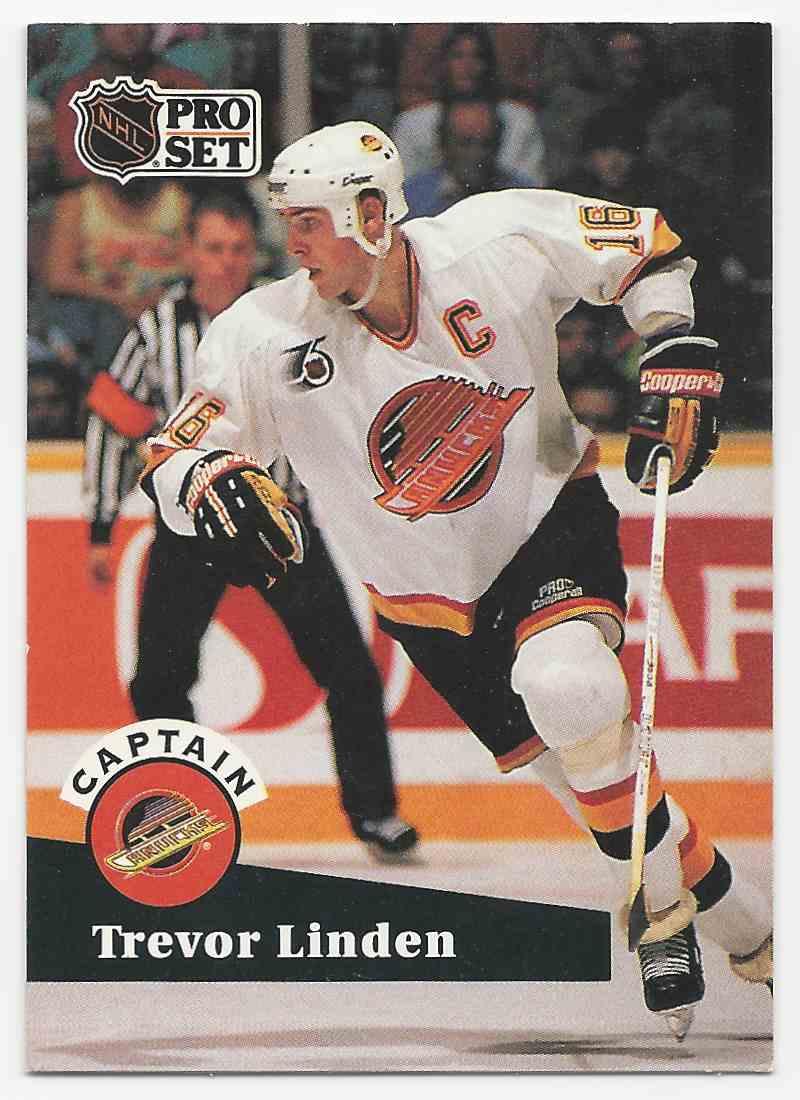 3489c90bb57 1991-92 Pro Set Trevor Linden  586 card front image