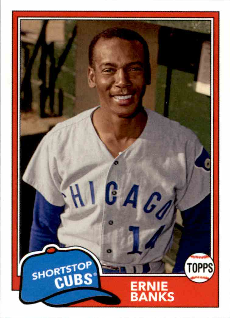 2018 Topps Archives Ernie Banks #202 card front image