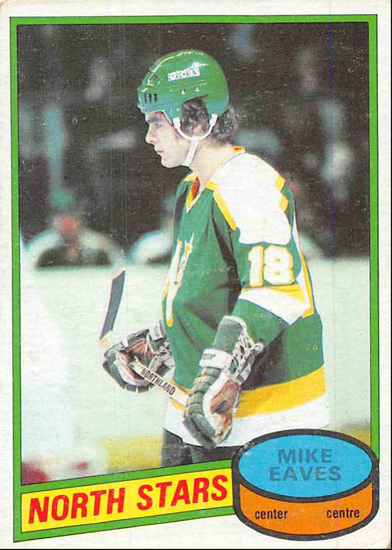 1980-81 O-Pee-Chee Mike Eaves #206 card front image