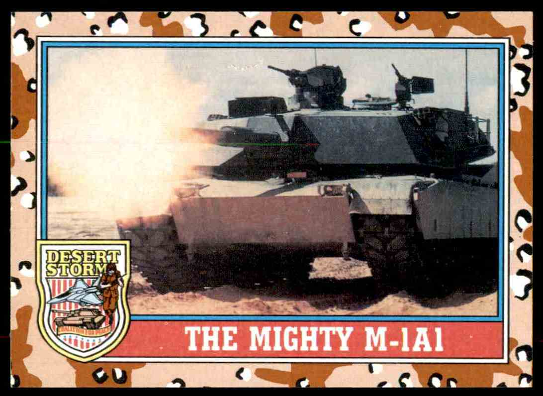 1991 Desert Storm Topps The Mighty M-1A1 #97 card front image