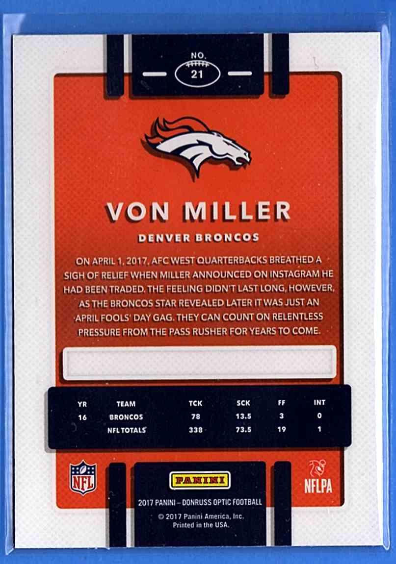 2017 Donruss Optic Von Miller #21 card back image