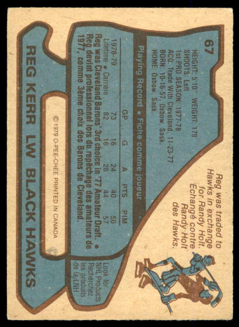 1979-80 O-Pee-Chee Reg Kerr #67 card back image
