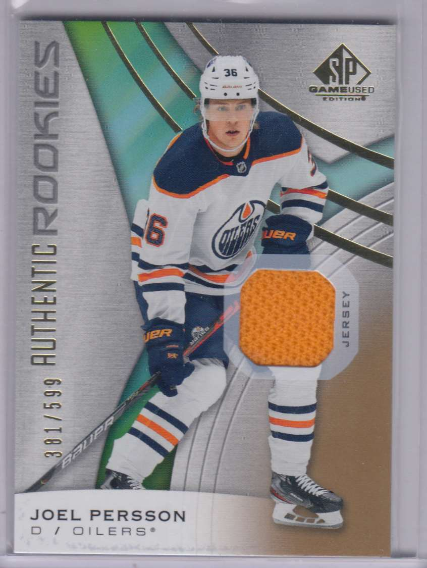 2019-20 SP Game Used Gold Joel Persson #170 card front image