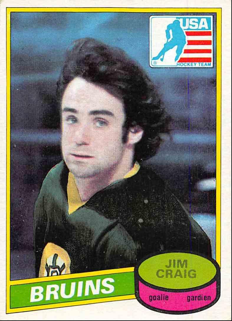 1980-81 O-Pee-Chee Jim Craig #22 card front image