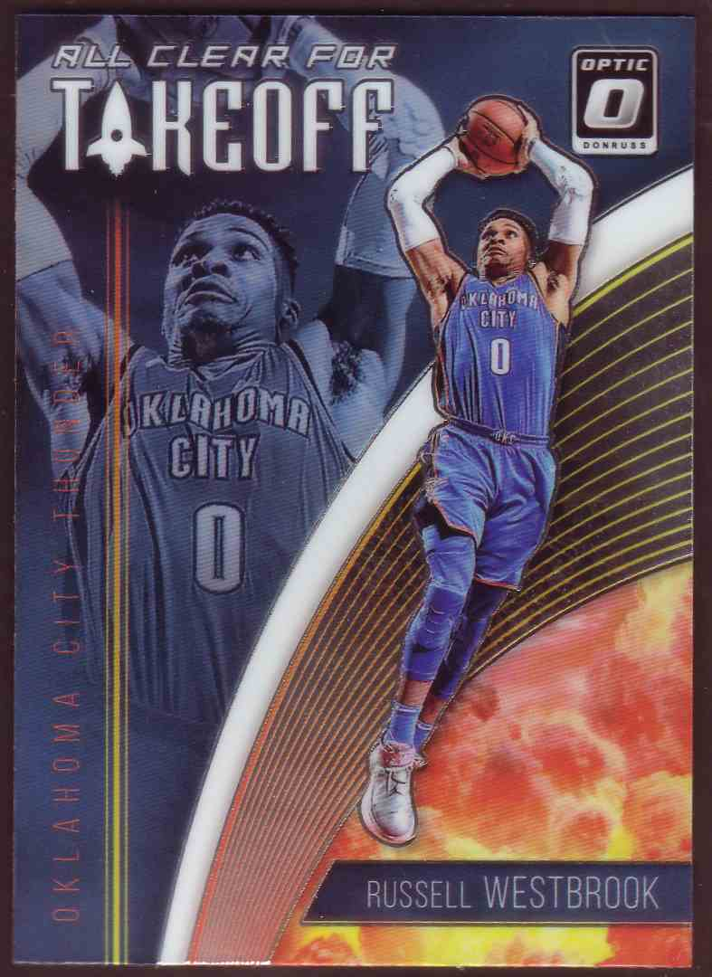 2018-19 Donruss Optic All Clear For Takeoff Russell Westbrook #6 card front image