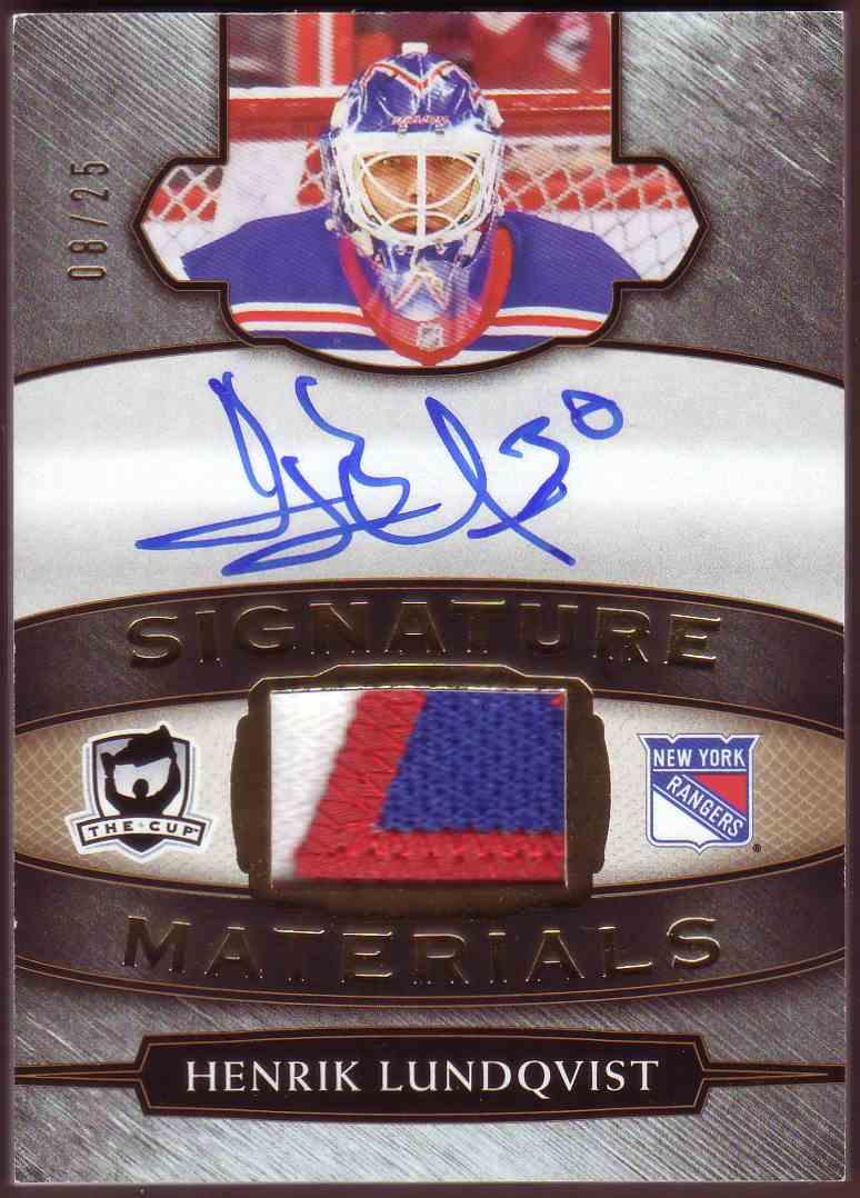 2018-19 Upper Deck The Cup Signature Materials Henrik Lundqvist #SP-HL card front image