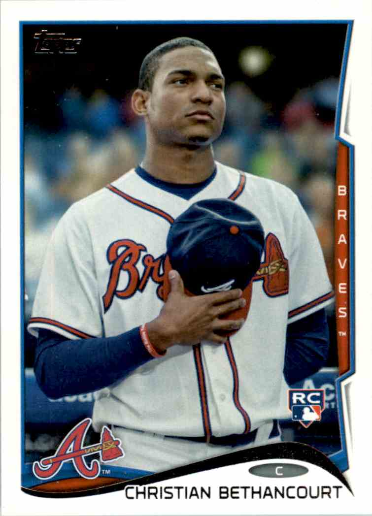 2014 Topps Christian Bethancourt RC #447 card front image