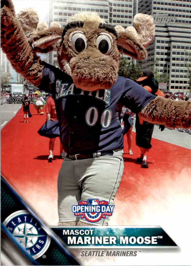 2016 Topps Opening Day Mascots Mariner Moose #M-19 card front image
