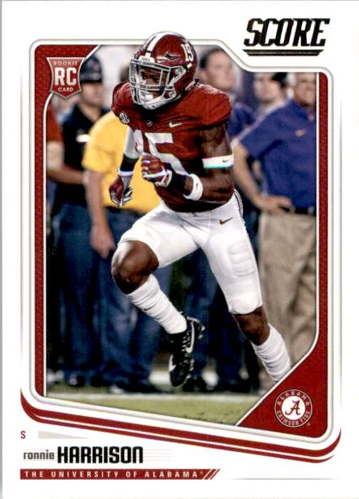 2018 Score Ronnie Harrison RC #376 card front image