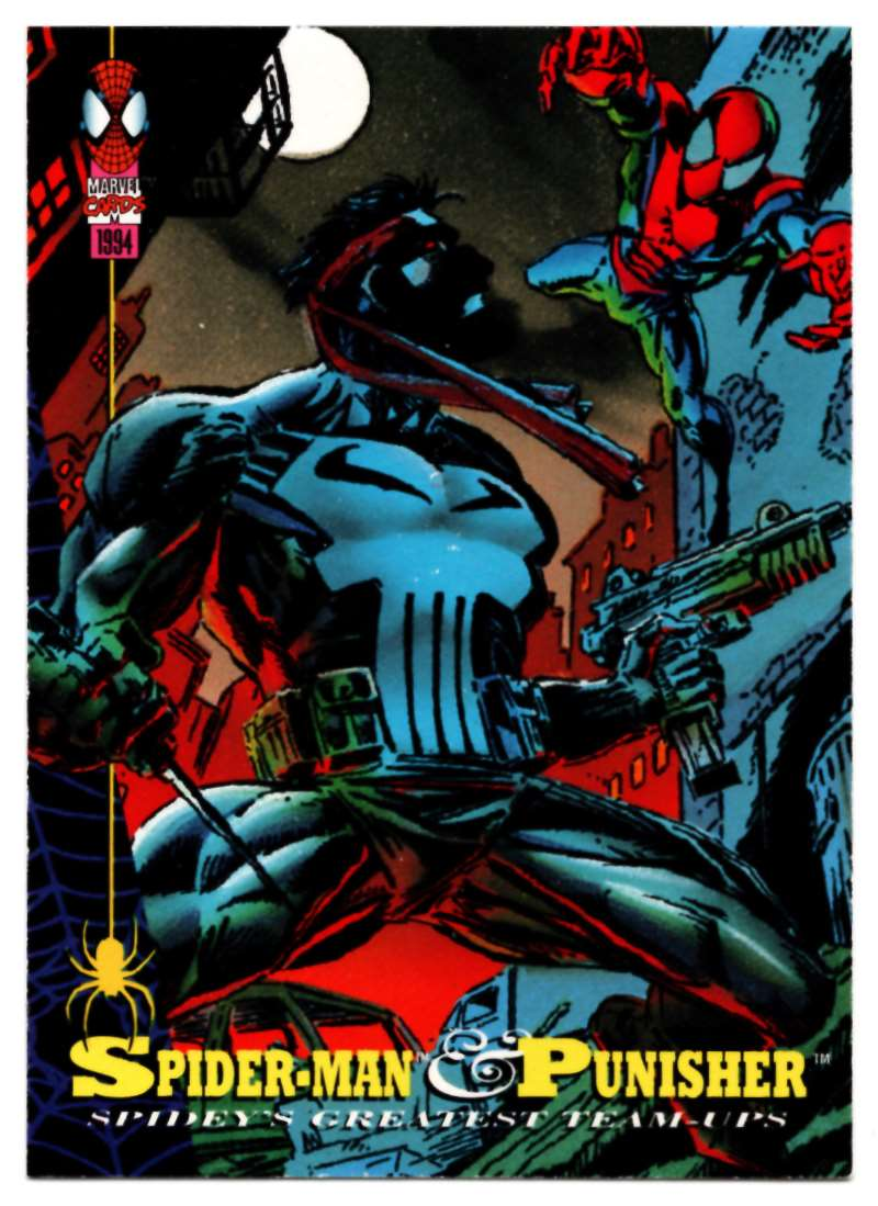 1994 Amazing Spider-Man Spider-Man And Punisher #84 card front image