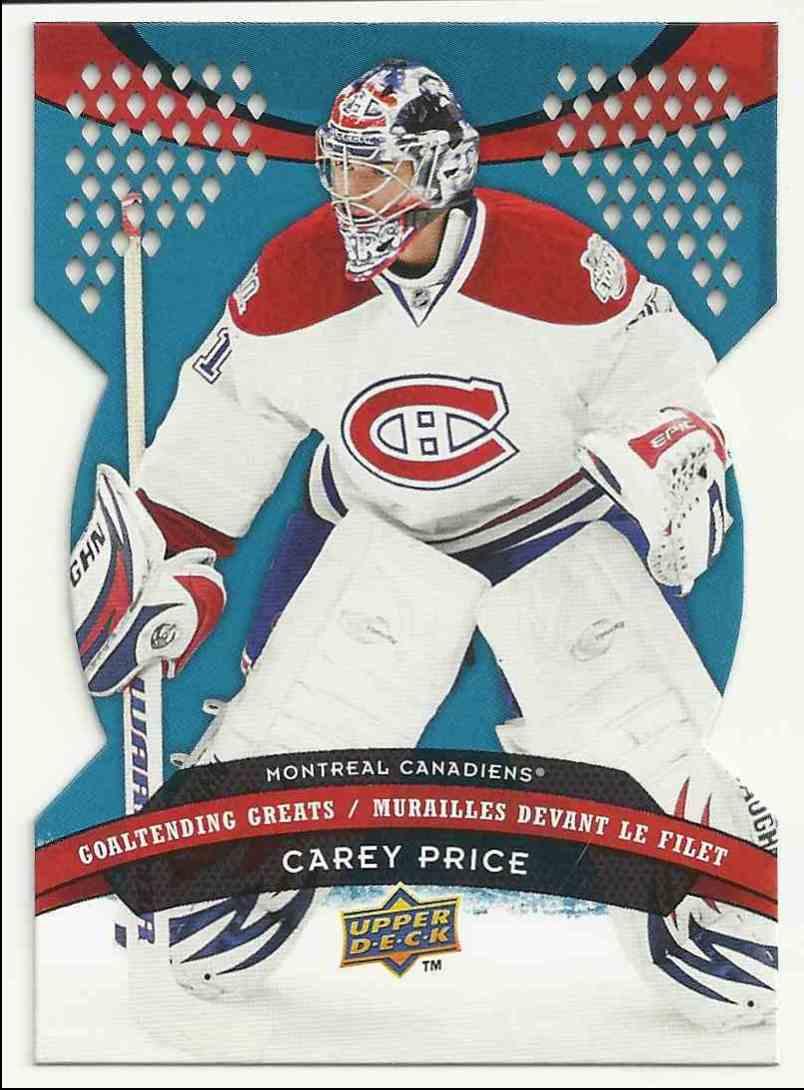 2009-10 Upper Deck McDonald's Goaltending Greats Carey Price #GG1 card front image