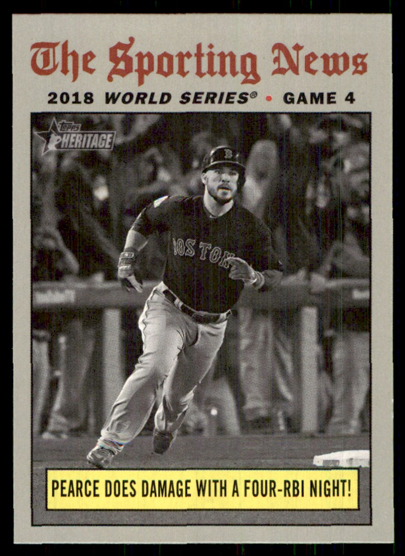 2019 Topps Heritage Steve Pearce WS HL #308 card front image