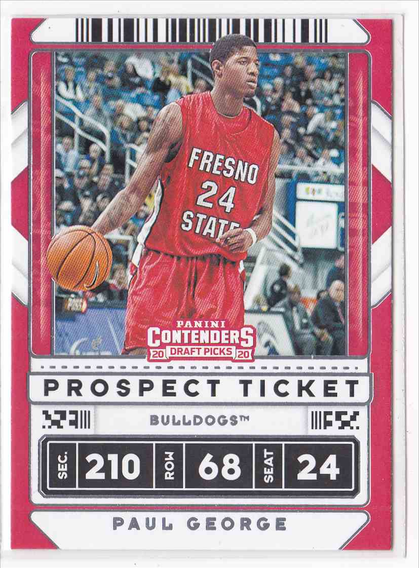 2020-21 Panini Contenders Draft Picks Prospect Ticket Paul George #19 card front image