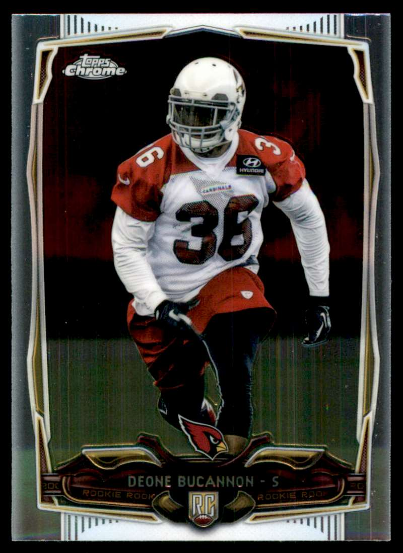 2014 Topps Chrome Deone Bucannon RC #186 card front image
