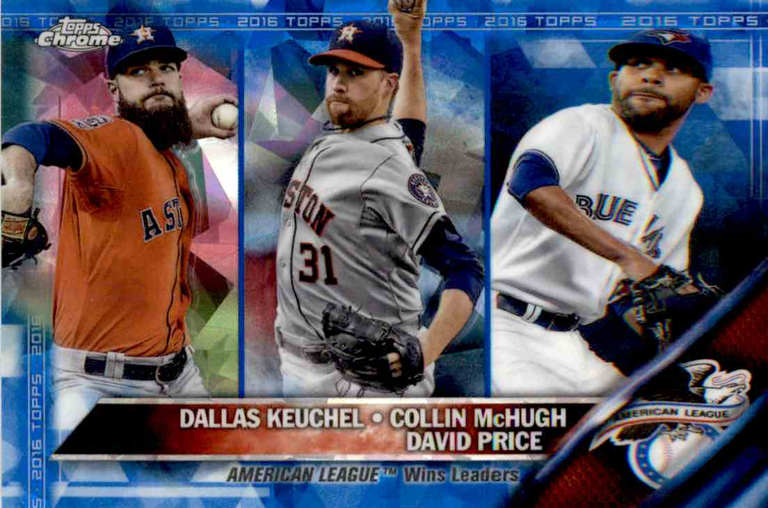 2016 Topps American League Wins Leaders #187 card front image