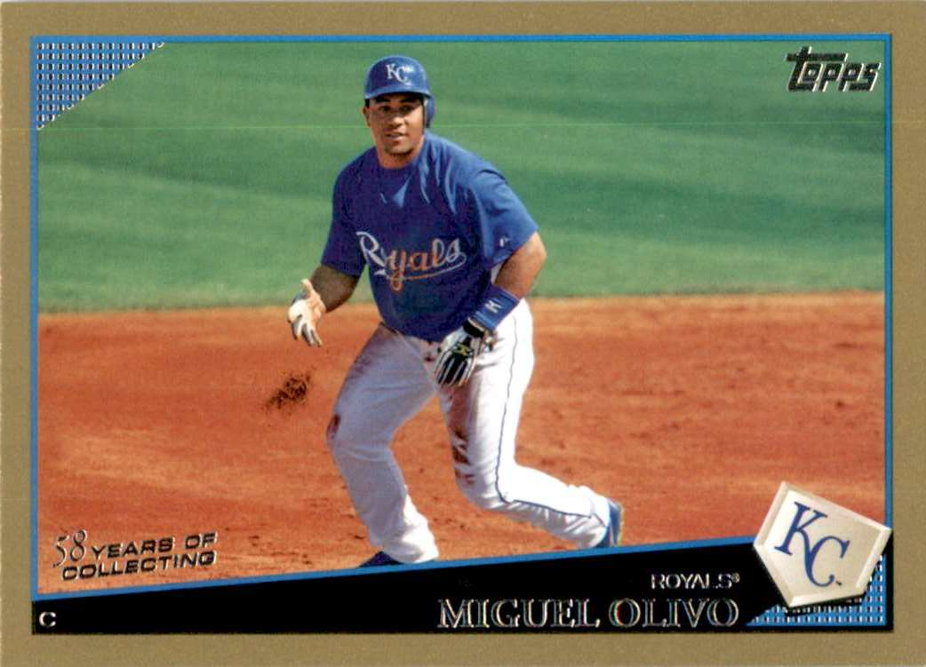 2009 Topps Gold Border Miguel Olivo #539 card front image