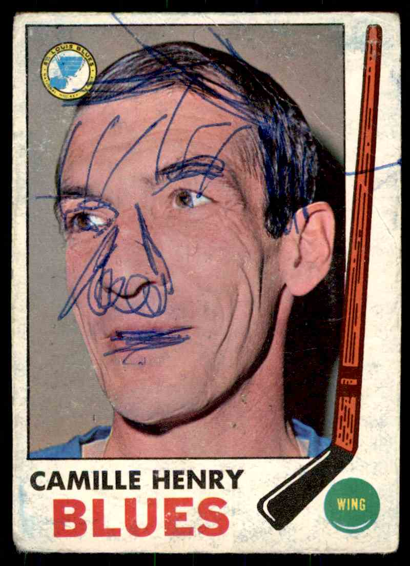 1969-70 Topps Camille Henry #17 card front image