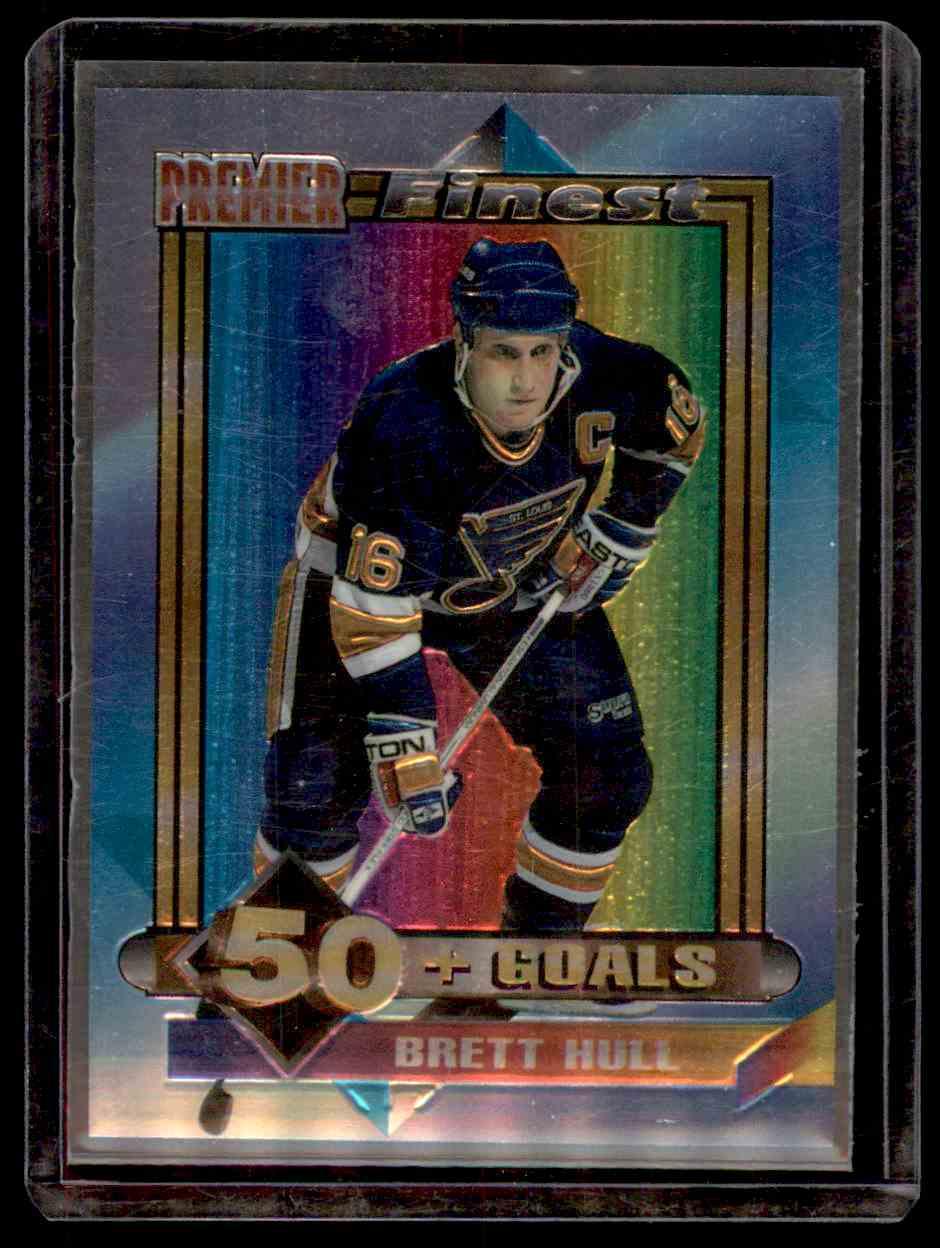 1994-95 Topps Premier Finest Brett Hull #2 card front image