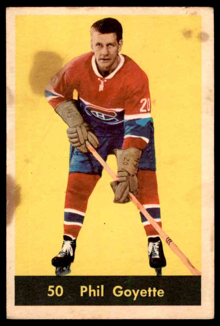 1960-61 Parkhurst Phil Goyette #50 card front image