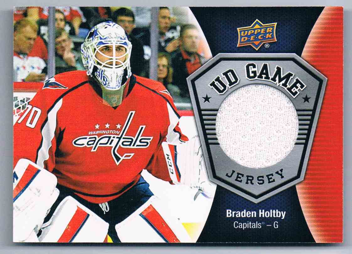 2016-17 Upper Deck UD Game Jersey Braden Holtby #GJ-BH card front image