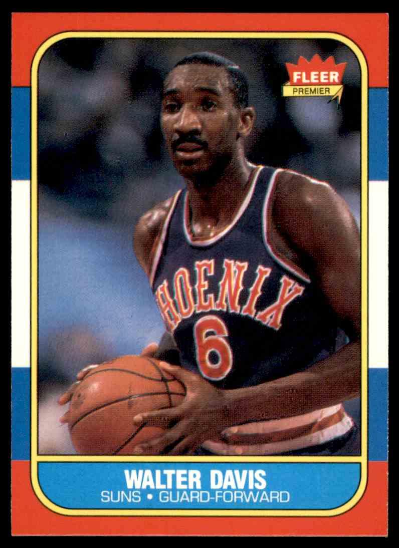 1986-87 Fleer Walter Davis #23 OF 132 card front image