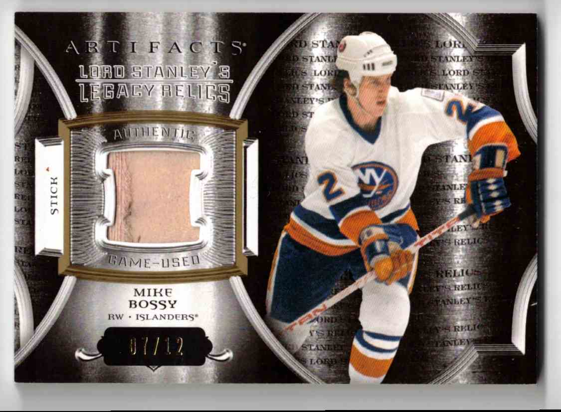 2015-16 Upper Deck Artifacts Lord Stanley's Legacy Relics Gold Mike Bossy #LSLR-MB card front image