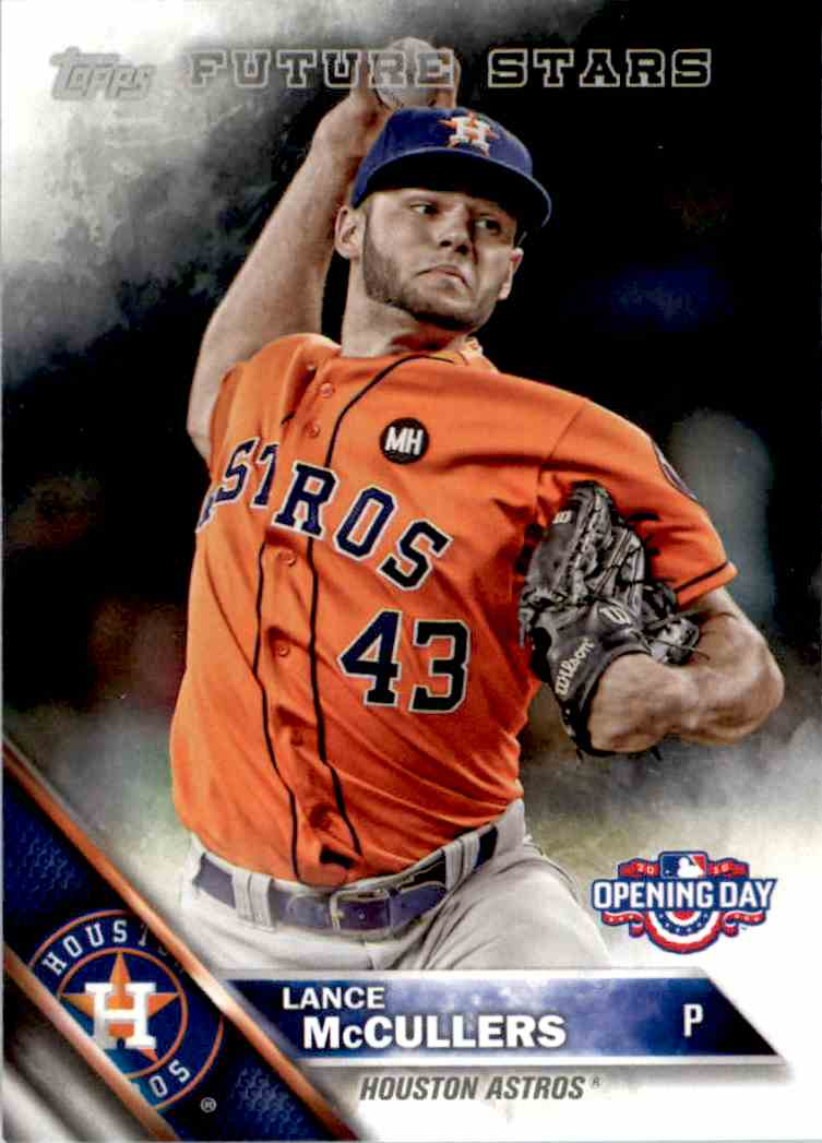 2016 Topps Opening Day Lance McCullers #OD-171 card front image