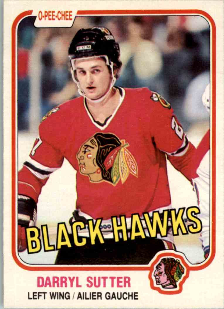 1981-82 O-Pee-Chee Darryl Sutter #65 card front image