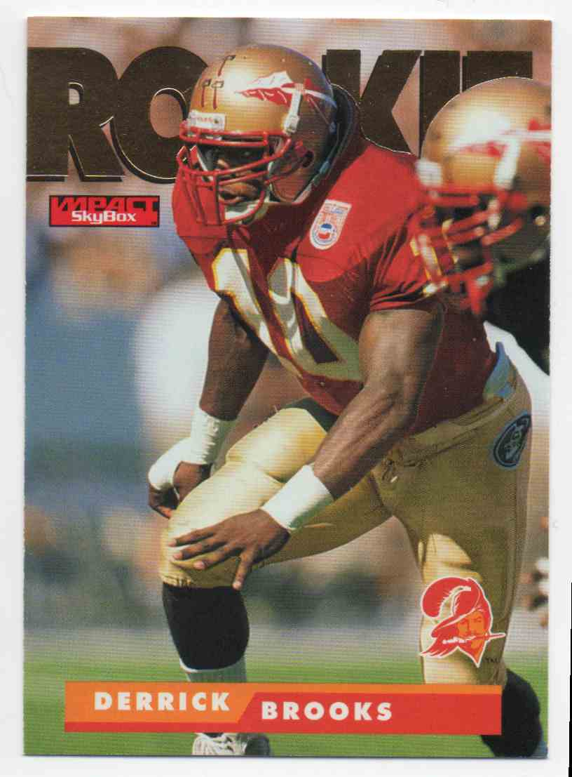 1995 Skybox Impact Derrick Brooks #190 card front image