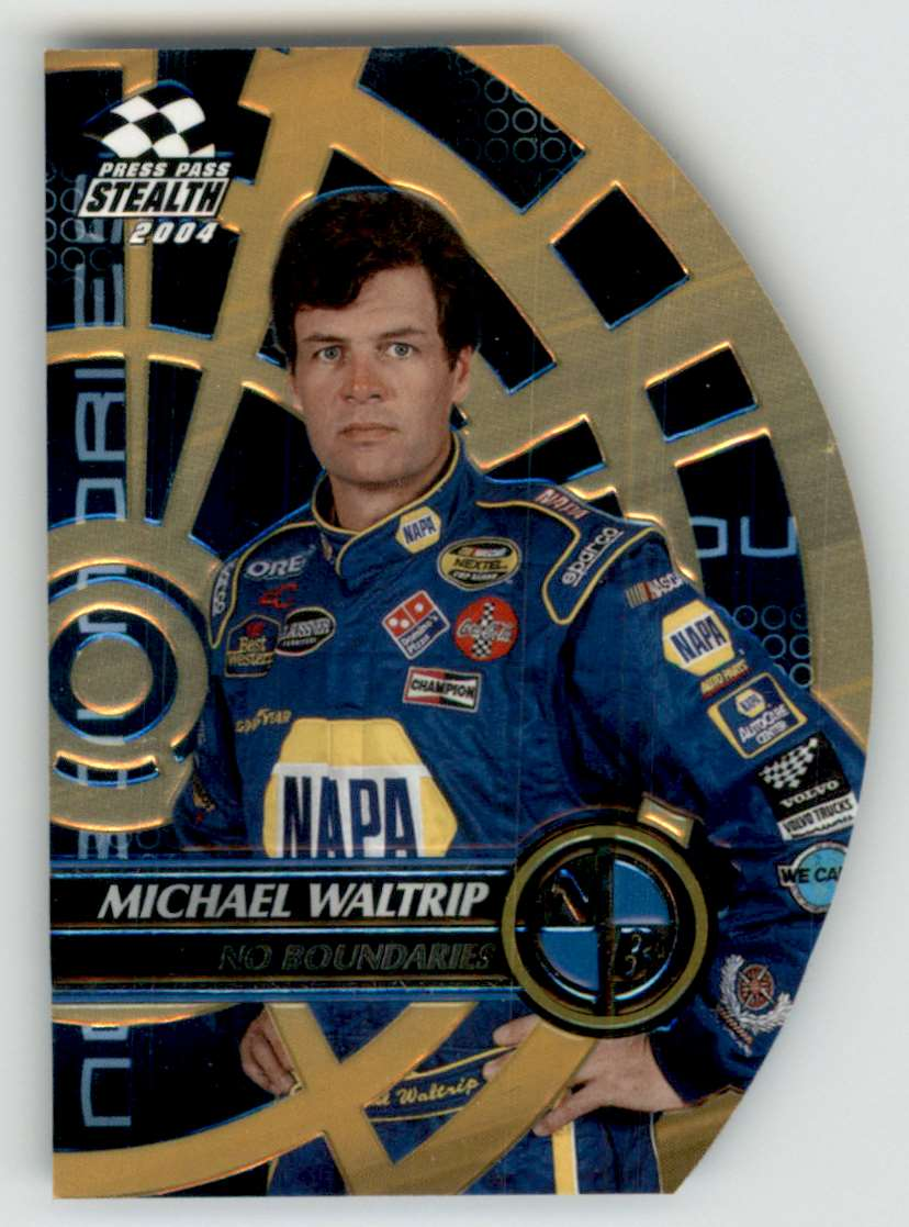 2004 Press Pass Stealth No Boundaries Michael Waltrip #NB26 card front image