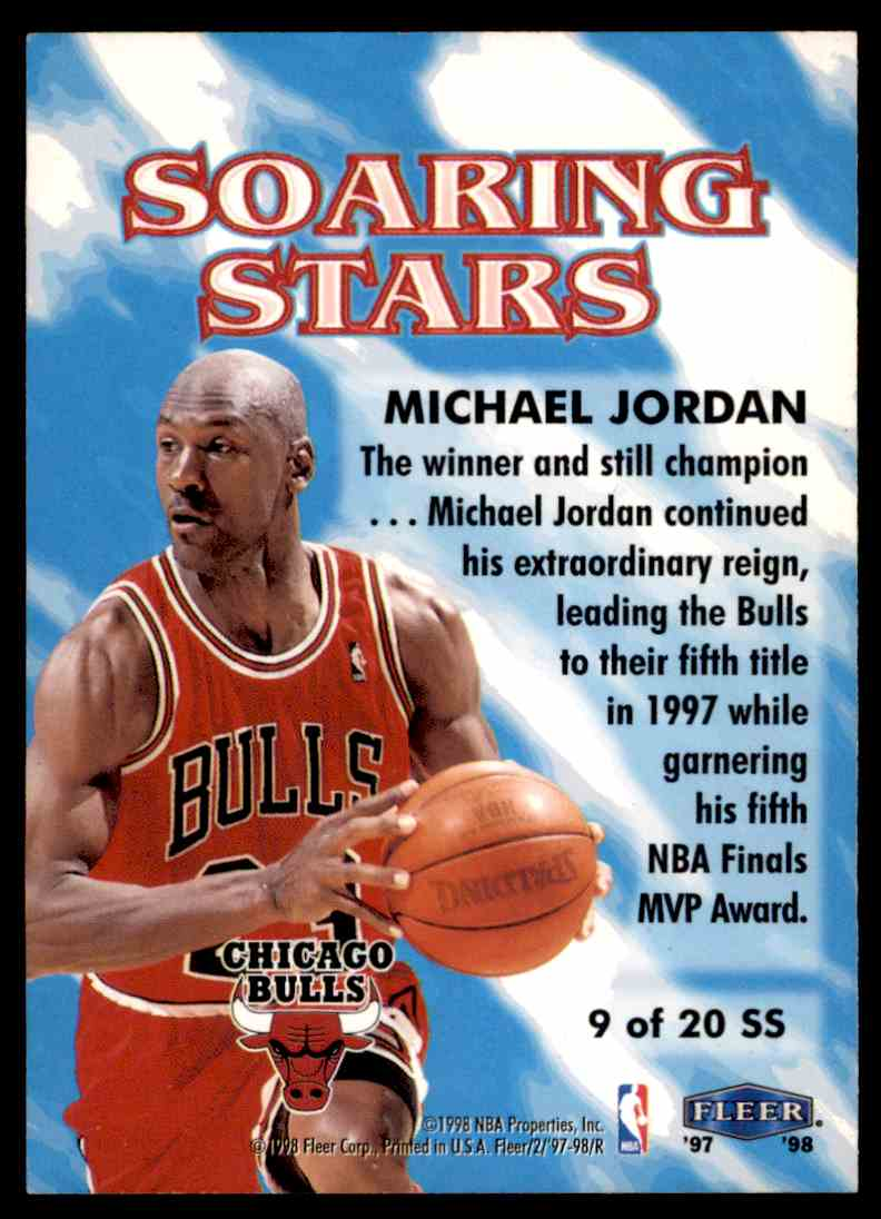 1997-98 Fleer Soaring Stars Michael Jordan #9 OF 20 SS card back image
