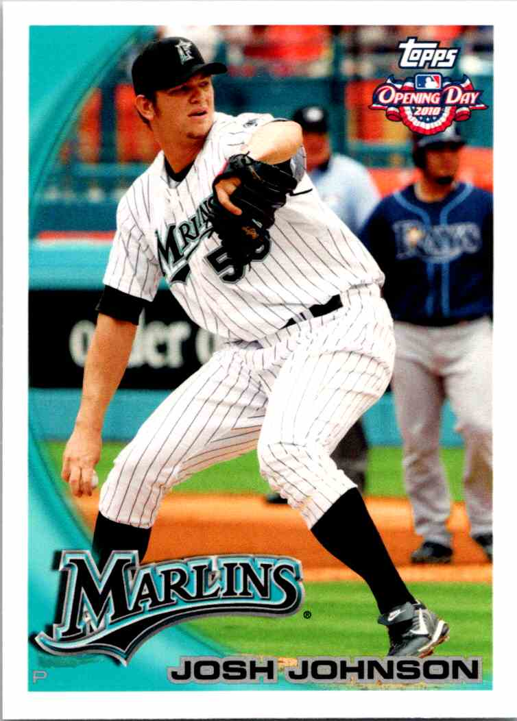 2010 Topps Opening Day Josh Johnson #20 card front image