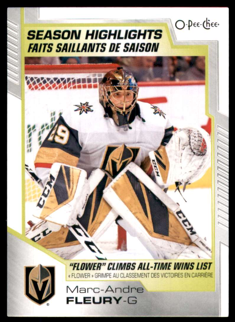 2020-21 O-Pee-Chee Marc-Andre Fleury Sh #596 card front image