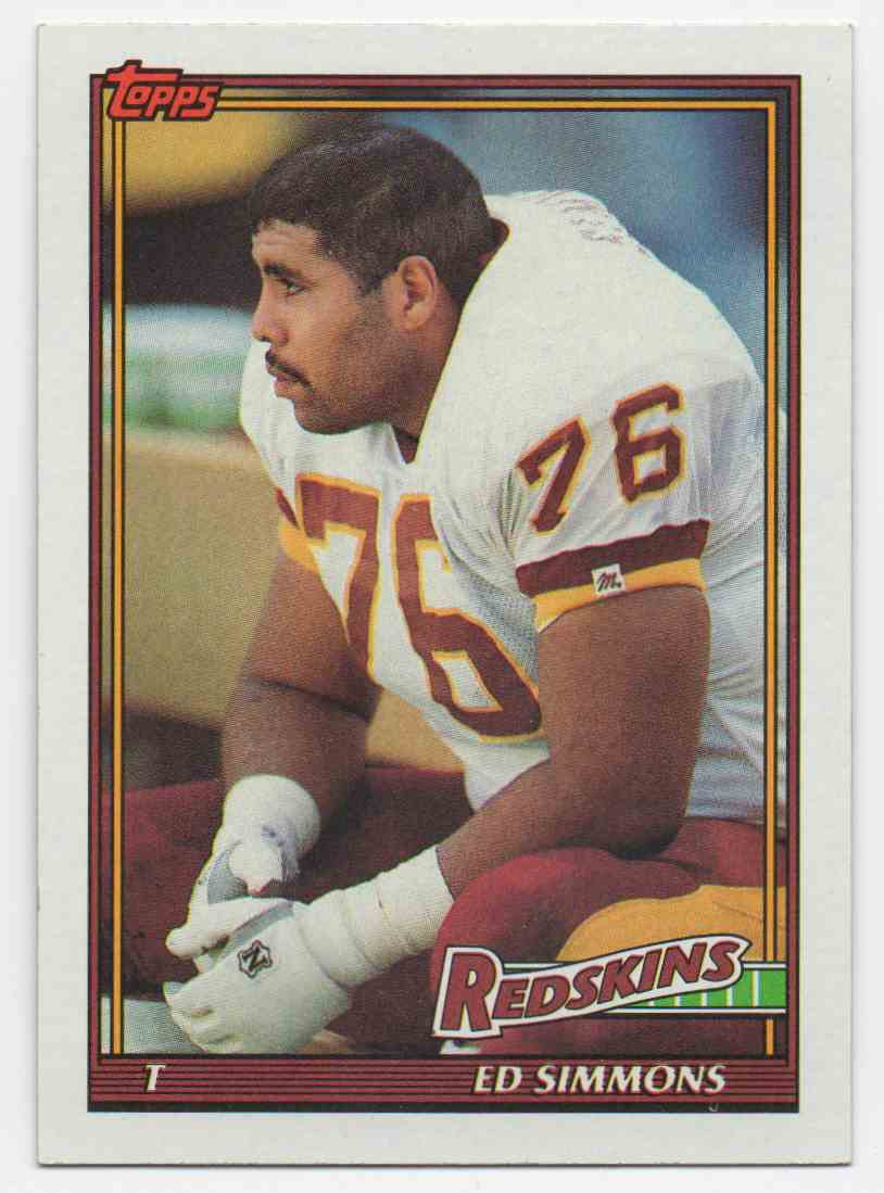 1991 Topps Ed Simmons #188 card front image