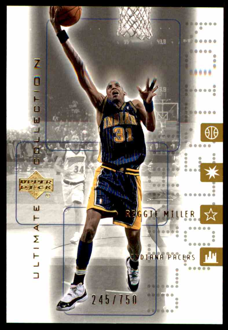 2001-02 Upper Deck Ultimate Collection Reggie Miller #21 card front image