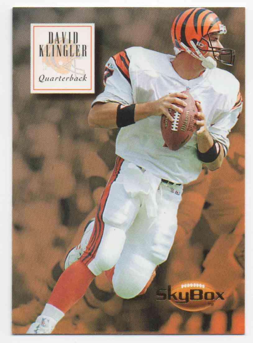 1994 Skybox David Klingler #27 card front image