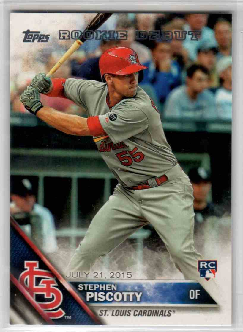 2016 Topps Update Stephen Piscotty RD #US119 card front image