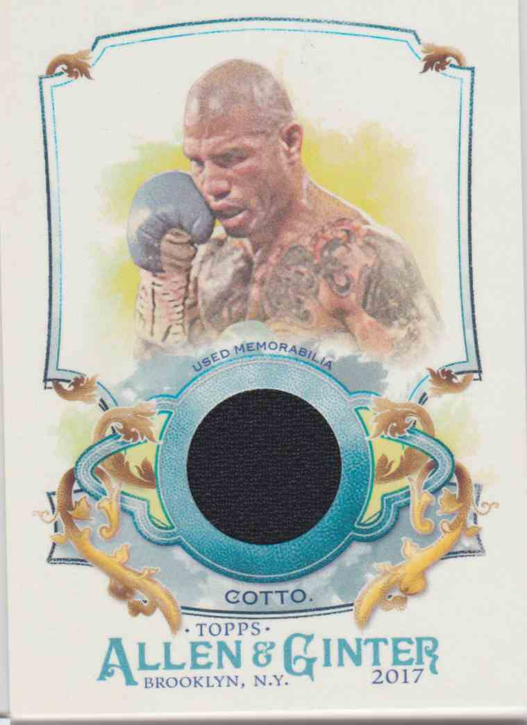 2017 Topps Allen & Ginter Miguel Cotto #FSRA-MCO card front image